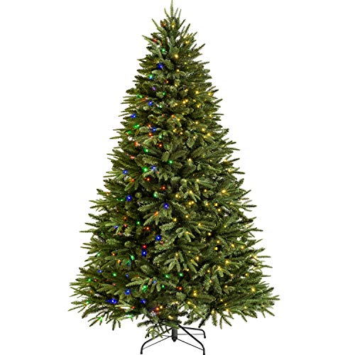 WeRChristmas Pre-lit Grand Alaskan Fir Function Christmas Tree with 800 Multi Dual LED Lights, Green, 9 feet/2.7 m