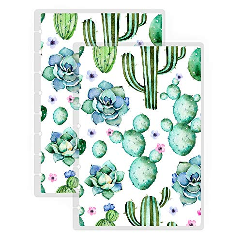 Jane's Agenda Succulent Replacement Planner Cover for Discbound Happy Planner Staples Arc TUL