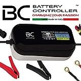 BC Battery Controller BC 9000 EVO, Caricabatteria e Mantenitore Digitale/LCD, Tester di Batteria e Alternatore per tutte le batterie Auto, Moto, Camper, RV ed Imbarcazioni 12V Piombo-Acido, 9A/1A