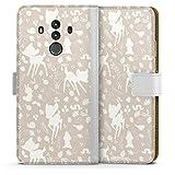 DeinDesign Étui Compatible avec Huawei Mate 10 Pro Étui Folio Étui magnétique Bambi Produit sous...