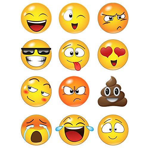 Emoticon Faces Wall Stickers #6052 (6 inch Emoticon Faces)