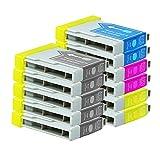 11 Druckerpatronen Tinte für Brother DCP130C DCP135C DCP540CN MFC235C MFC260C ersetzen LC970 LC1000