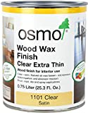 Osmo Wood Wax Finish Extra Thin, 1101 Clear - .750 Liter