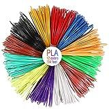 Filamento PLA para Pluma de 3D 5 M por Color, Total 197 Pies// 60M AGPTEK 12 Colores 3D Pen Filamento 1.75MM