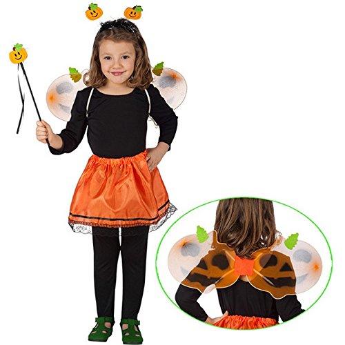 Costume Fee Citrouille Enfant 3a6ans Ailes - Deguisement Halloween - 741