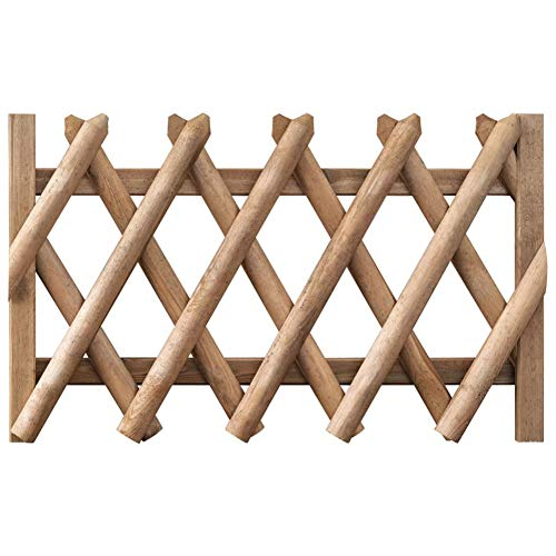 Garden Fence Gate Impregnated Pinewood,Pickets with Crossed Design, Hardwearing and Weather and Rot Resistant,by BIGTO (100 x 80 cm)