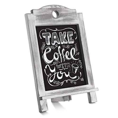 EXCEART Tabletop Tafel Zeichen Rustikalen Holz Tafel Kleine Arbeitsplatte Tafel Staffelei Desktop-Memo Board für Hochzeit Küche Restaurants Bar Kaffee Shop