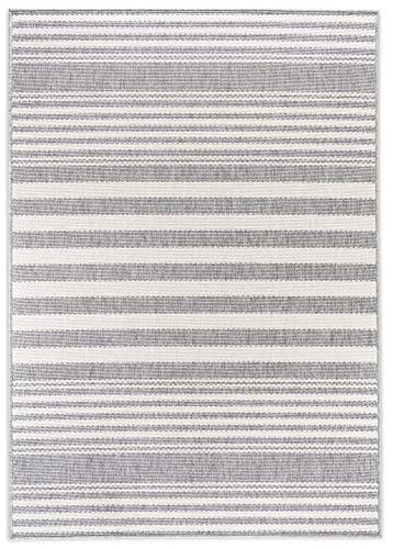 In- und Outdoor-Teppich Sawstripes Grey 140x200cm für Innen und Außen