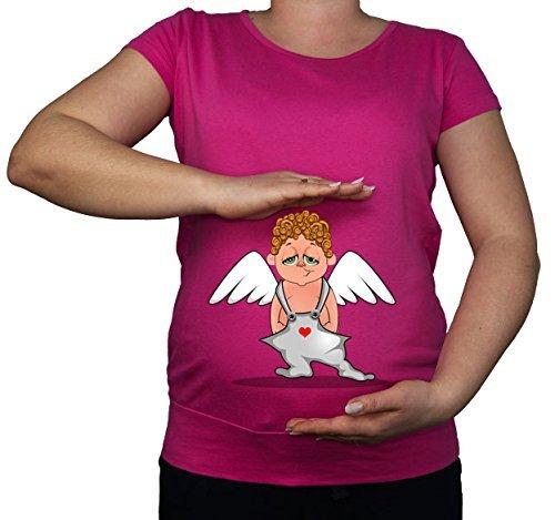 Maternité Grossesse Taille 10–20 Funny Ange Cupidon Cœur Imprimé Top Tunique T-Shirt - -