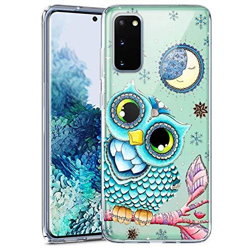 Samsung Galaxy S20 FE 5G Clear Case Custom Personality Pattern TPU Cover Case Slim Flexible Full Body Protective Cover Case for Samsung Galaxy S20 FE 5G (Owl)