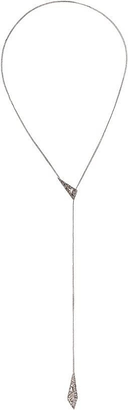 Alexis Bittar - Crystal Encrusted Origami Lariat Necklace
