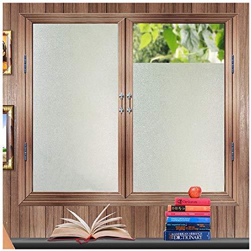 Zindoo Pellicola Privacy Non Adesiva per Vetro Decorative Anti-UV Frosted Pellicola per finestre,per Ufficio Bagno Camera da Letto Sala di Riunione 45cm x 200cm