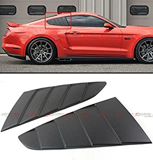 Cuztom Tuning Fit for 2015-2018 Ford Mustang GT C Style 1/4 Quarter Window Louver Scoop Side Vent Cover - Matt Black
