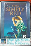 Simply Red–65x 100cm zeigt/Poster