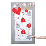 Valentine Countdown Calendar - Includes 14 Pockets - Party and Holiday Home Decor