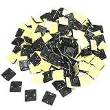 RedBeryl 選べる 結束バンド 用 タイ マウントベース 粘着テープ付 インシュロック 配線 固定 ケーブル 固定具 (20mmx20mm 黒 30個)