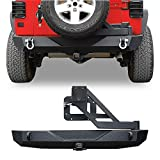 LEDKINGDOMUS Rear Bumper with Tire Carrier and 2' Hitch...