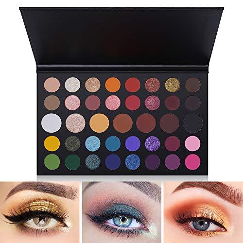 Paleta de sombras de ojos de 39 colores Sombra de ojos de mezcla mate y brillante Maquillaje Producto Paleta Set de maquillaje de sombra de ojos pigmentada