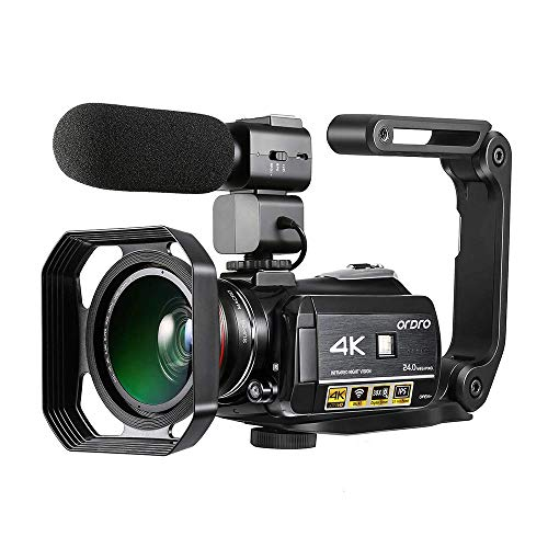 Camescope 4k de Vision Nocturne Caméra Vidéo Ultra HD...