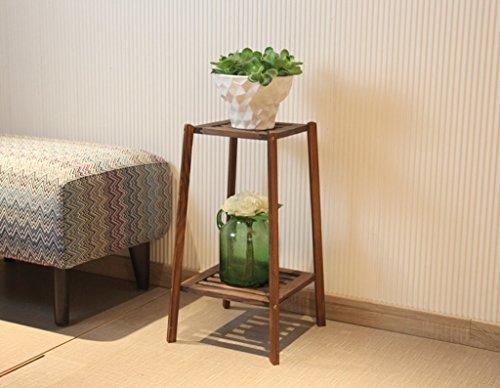 QXX Porte-Fleurs en Bois Massif, Salon d'intérieur Chlorophytum Epipremnum Aureum Porte-Pot de Fleurs Plancher-Debout Style Multi-Couche Flowerpot Plant Shelf (Couleur : B, Taille : Small)