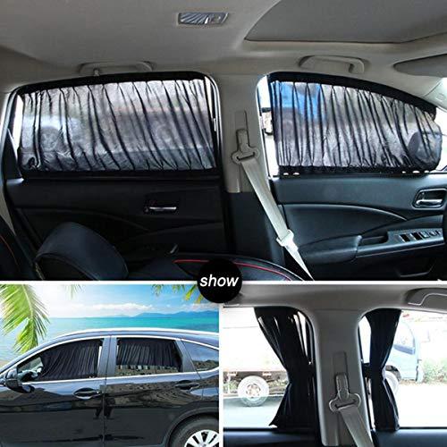 GOFORJUMP 70S katoenen doek auto gordijn zijvenster auto zon schaduw gordijn UV beschermend blok venster gordijn zonnekap Set