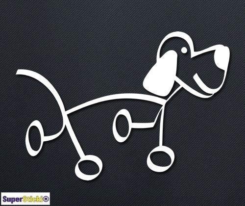 Dogg hond stick figure ca. 20 cm Tuning JDM Hobby decal sticker, autosticker, sticker voor ruit, lak, laptop, muurtattoo van high-performance folie, professionele kwaliteit, UV- en wasstraatbestendig