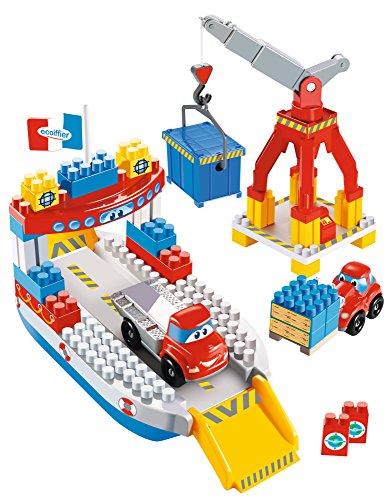 Jouets Ecoiffier – 3030 - Cargo Abrick – Jeu de construction pour enfants – Dès 18 mois – Fabriqué en France