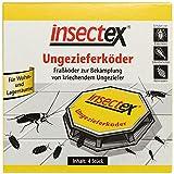 insectex Cebo de alimañas, Trampa de Cebo de alimañas, Cajas de Cebo, pesticidas: Cebo Listo para Usar en una Caja de plástico