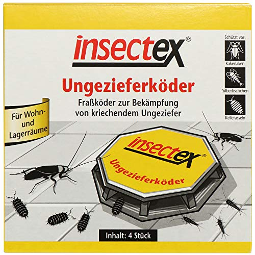 insectex 3019902004 Ungezieferköder - Ungeziefer Köderfalle - Schädlingsbekämpfungsmittel - Fertigköder in Kunststoffdose