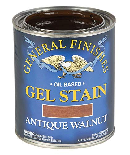 General Finishes Oil Base Gel Stain, 1 Quart, Antique Walnut