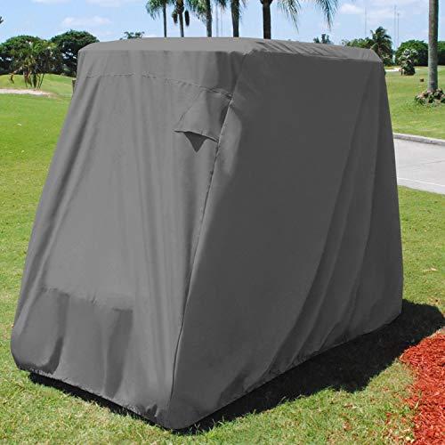 KHOMO GEAR Golf Cart Cover Universal - 4 Passenger - Grey
