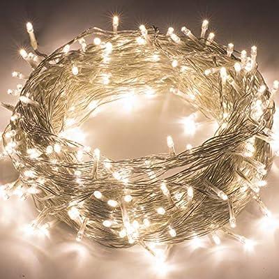 Quntis LED String Lights 100M 500LED CE Standard High Brightness White Lights Safe Low Voltage Indoor Fairy Lighting for Christmas Wedding Party Garden Yard Tree