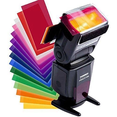 12x Difusor de Luz de Gel Color para Flash Camara Fotos Filtro Strobist 4554