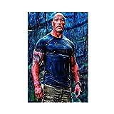 Dwayne Johnson Poster berühmter Boxer Wrestler, schöner