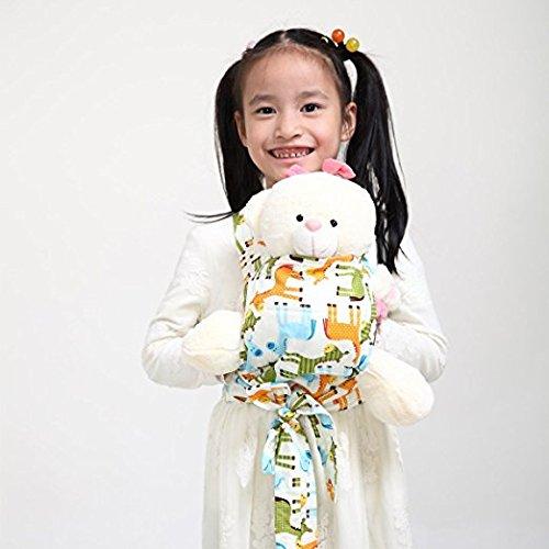 Baby Doll Carrier Mei Tai Sling Toy pour enfants Enfant enfant en bas d'enfant Dos, Mini-porteuse, Hibou, Dot, Fleur, Kaléidoscope (Horse)