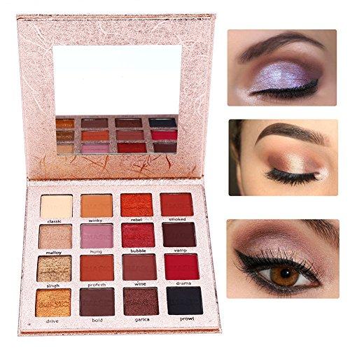 16 colori della gamma di colori della gamma di colori di occhio di trucco opaco Gloss Powder Eye Shadow attrezzo cosmetico