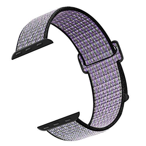 CosyZanx Kompatibel mit Apple Watch Armband 38mm 40mm 42mm 44mm,Gewobenes Nylon Sport Schlaufe Handgelenk Uhrband Ersatz Armreif Uhrenarmband für iWatch Apple Watch Series 4 3 2 1 (42/44MM, Desert)