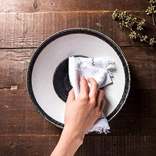 WEHOLY Abendessen handbemalte Keramikschale, Nordic Dumb Light Glazed Ceramic Fruit Salatschüssel, Home Rice Bowl, kreatives Geschirr, 8 Zoll (Farbe: A)