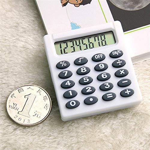 TOOLSTAR Taschenrechner, 1 Stück, 8 Ziffern, elektronischer Tischrechner, Mini-Taschenrechner, tragbarer Kakulator für Mathematikunterricht, täglich, grundlegend, Büro (weiß)