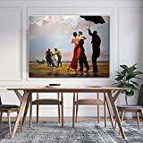 Kit de pintura de bricolaje para adultos bailando Edward Hopper por número para principiantes