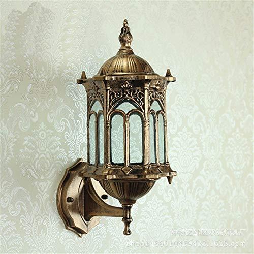 JJZHG Wandlamp, waterdicht, wandverlichting, wandlamp, patio, woonkamer, buiten, waterdichte spiegel, koplamp, brons, bevat: wandlamp, stoere wandlampen, wandverlichting
