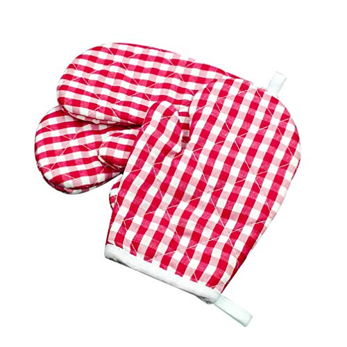 Cabilock Kids Oven Mitts for Children Play Kitchen Heat Resistant Kitchen Mitts for Kids Toddler 2pcs
