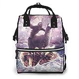 nbvncvbnbv Sloth Rinding Llama-Corn On Taco gigante Bolsa de pañales Mochila Bolsa de pañales Aby Bags for Mom Maternidad Mochila de viaje multifunción para papá y mamá