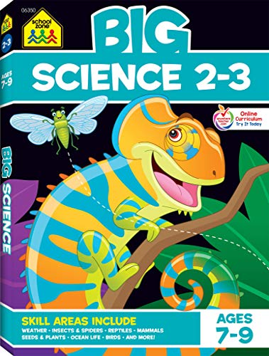 Compare Textbook Prices for School Zone - Big Science Workbook - Ages 7 to 9, 2nd Grade, 3rd Grade, Weather, Seeds, Plants, Insects, Mammals, Ocean Life, Birds, and More School Zone Big Workbook Series  ISBN 9781681473680 by School Zone,Joan Hoffman,Shannon M. Mullally Ph.D.