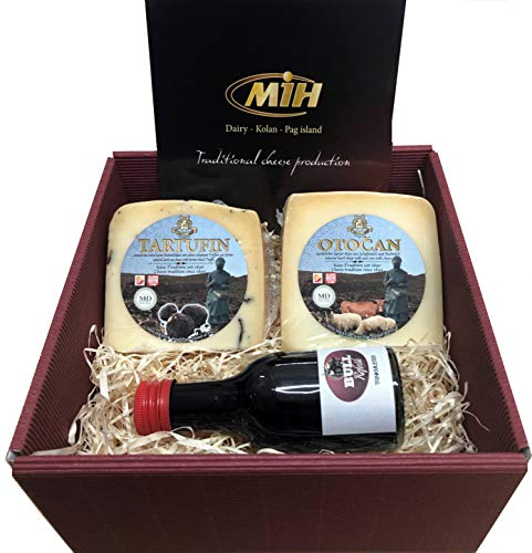 Delikatessen Geschenkideen Pager Käse mit GRATIS BULL Refošk Trinkprobe ca. 600g (EINWEG)