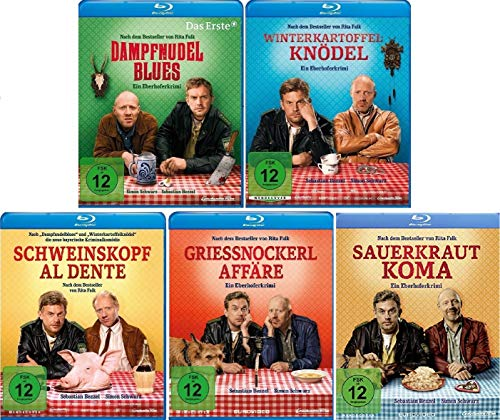 Eberhofer - 5 Blu-Ray Set (Dampfnudelblues + Winterkartoffelknödel + Schweinskopf al dente + Grießnockerlaffäre + Sauerkrautkoma) im Set - Deutsche Originalware [5 Blu-rays]