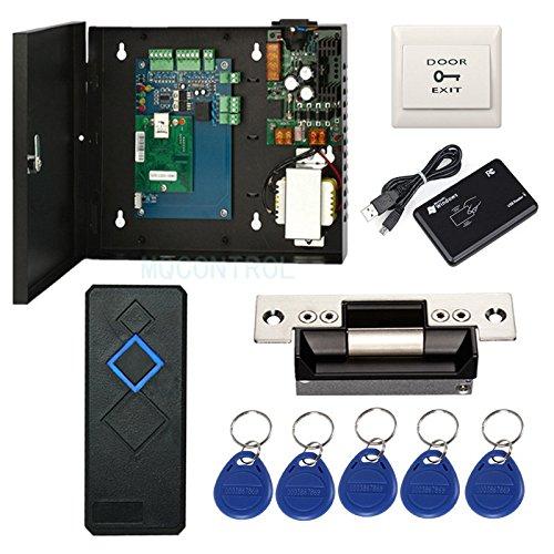 Wiegand EIN-Tür-Zugangskontrollplatte, Metall, elektrisches Schließschloss RFID-Türleser, RFID, Schlüsselanhänger/Karten, Telefon-App aus der Ferne öffnen Tür