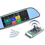 FOUR Dash Cam 7 Pouces 3G Double Enregistrement d'inversion, navigateur GPS, Vue...