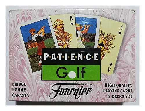 Naipes Heraclio Fournier Patience Golf 2 Mini Poker 110 Cartas Bridge Romme Canasta