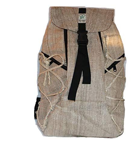Mochila de fibra de cáñamo, mochila de día de cáñamo / mochila de
